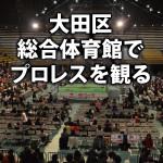 【初心者必見】大田区総合体育館の座席を考察、初めてのプロレス観戦!