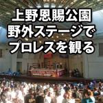 上野恩賜公園野外ステージの座席・席順を解説。初めてのプロレス観戦!