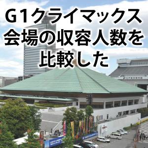 新日本プロレス【G1クライマックス】会場の収容人数を比較した