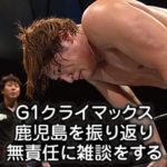 新日本プロレス【G1クライマックス鹿児島】の結果を振り返り雑談をする