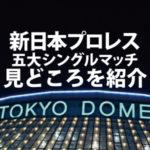新日本プロレス東京ドーム【五大シングル】の見どころをサクッと紹介するよ!