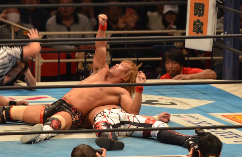 新日本プロレス大阪。内藤対YOSHI-HASHI。内藤のフォール