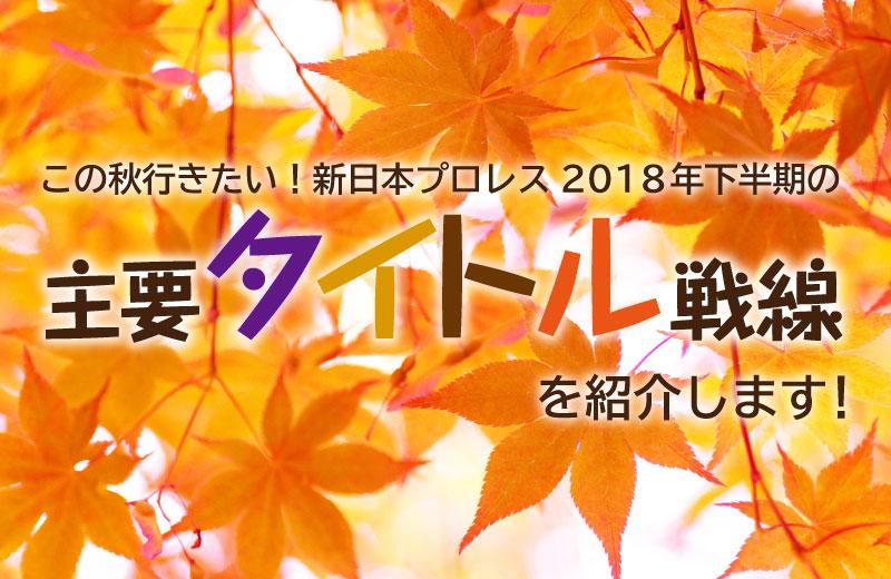 【初心者必見】新日本プロレスの2018年下半期主要タイトル戦線を紹介します